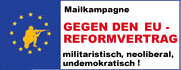 Mailkampagne gegen den EU-Reformvertrag