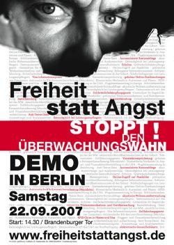 Aufruf zur Demo in Berlin am Samstag, den 22. September ab 14.30 Uhr