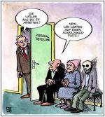 Cartoon der IG Metall-Jugend gegen die Rente mit 67